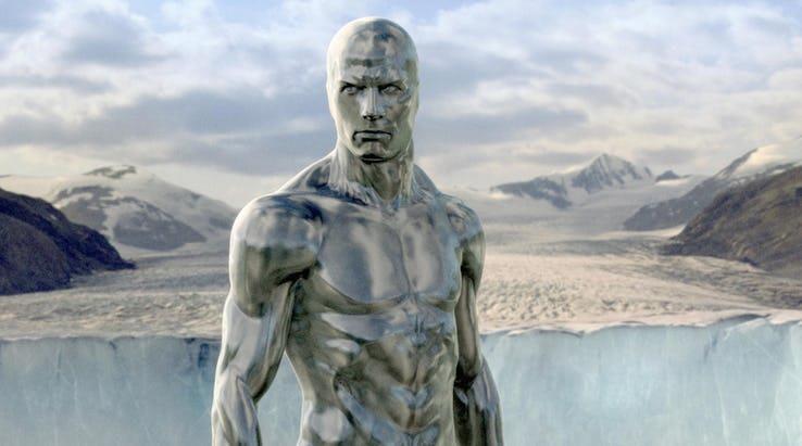Silver Surfer, comparso nel film sui Fantastici 4 del 2007.