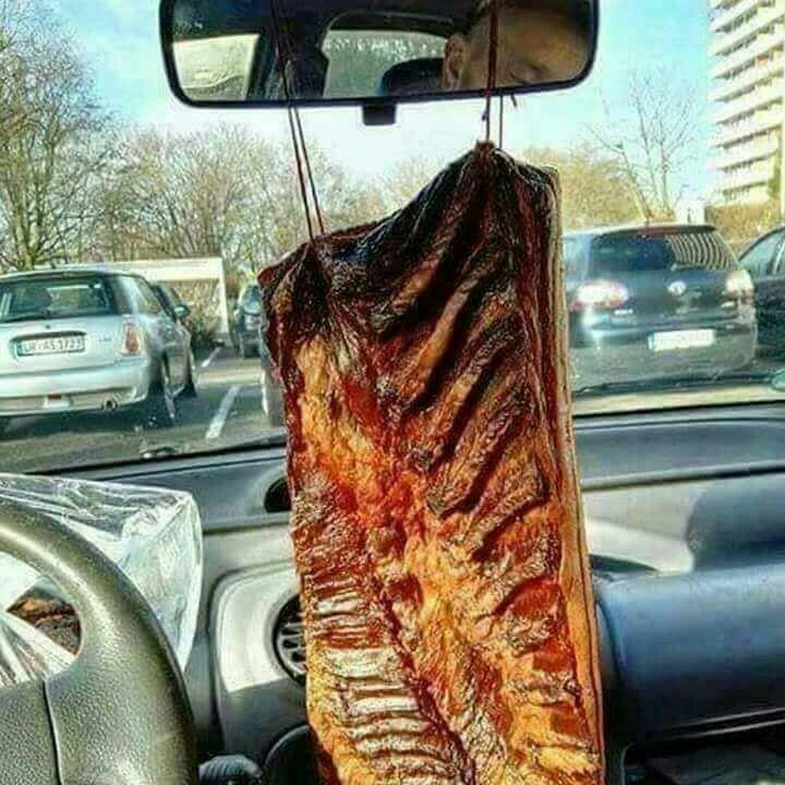 Immagini divertenti per WhatsApp - Un pezzo di carne come Arbre Magique