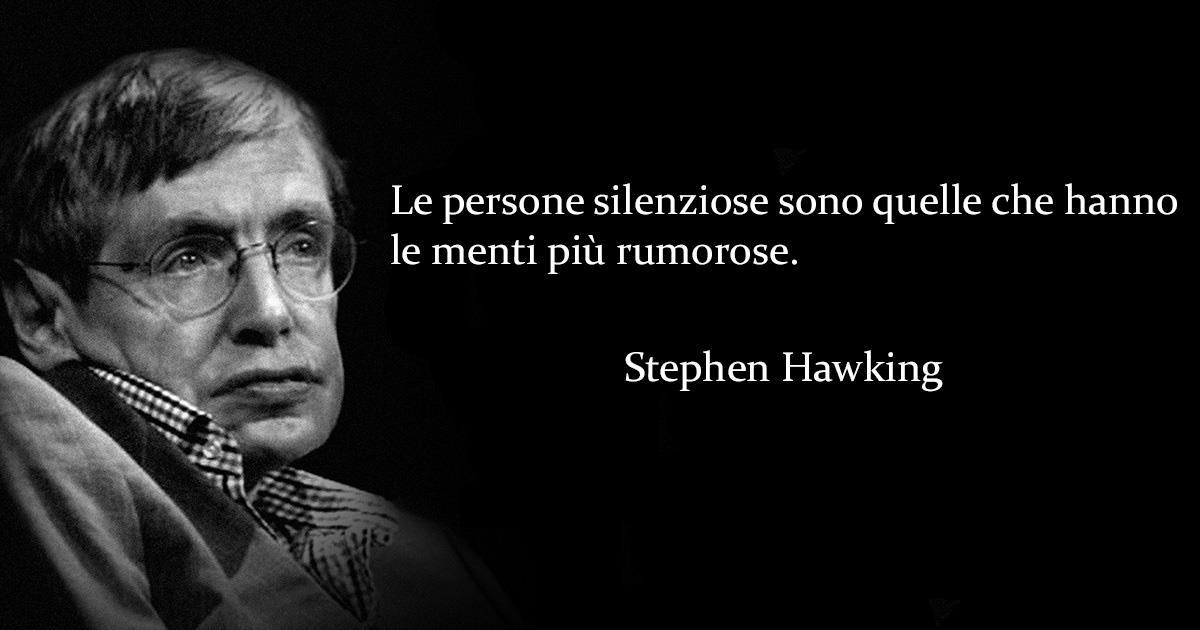 Una immagine di Stephen Hawking con u  suo aforisma - Le frasi più famose di Stephen Hawking da condividere