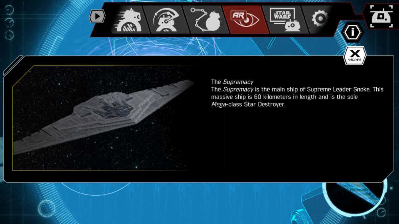 La navicella spaziale del leader Supremo Snoke