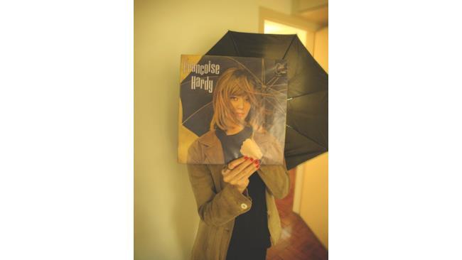 Esempio di Sleeveface con la copertina di Francois Hardy