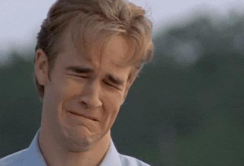 Dawson che piange - GIF di reazione ai commenti, le più divertenti da usare su Whatsapp e Facebook