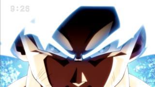 Goku mentre raggiunge la forma perfetta dell'Ultra Istinto