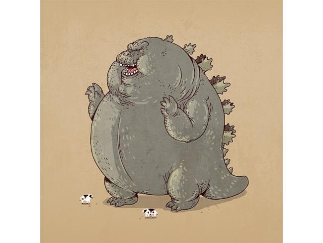 Godzilla in versione obesa