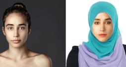 Ragazza photoshoppata in base a canoni di bellezza di diverse culture