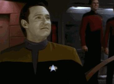 Un personaggio di Star trek urla yes - GIF di reazione ai commenti, le più divertenti da usare su Whatsapp e Facebook