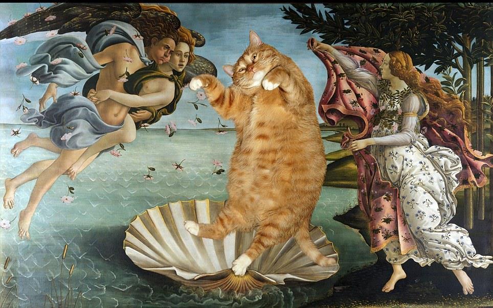 Esperimento virale per diffondere l'arte: gatto che entra nelle opere d'arte