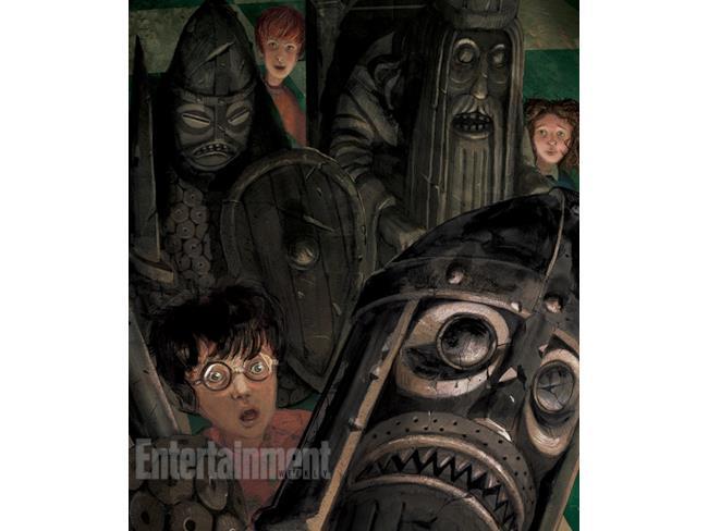 Harry e gli scacchi dei maghi in un'illustrazione di Jim Kay