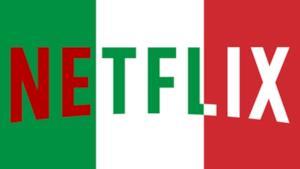 L'immagine del logo di Netflix sul tricolore