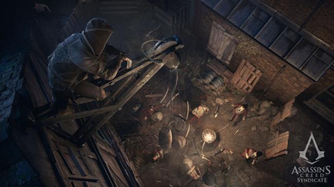 Jacob in una scena di Assassin's Creed Syndicate