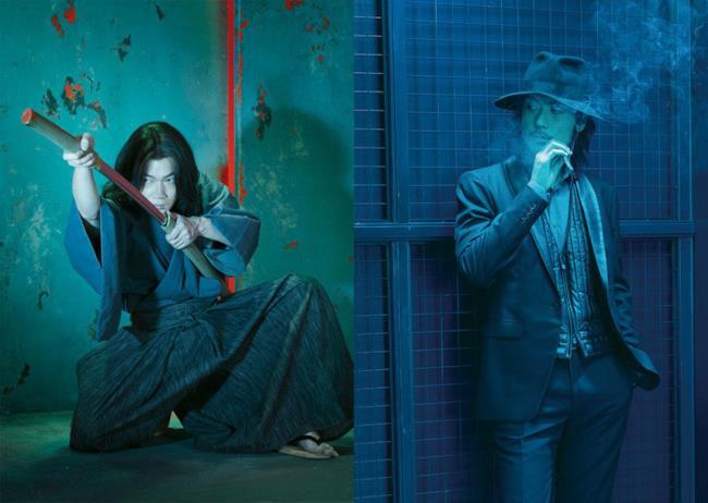 Gou Ayano (Goemon Ishikawa) e Tetsuji Tamayama (Daisuke Jigen) nel live-action di Lupin III