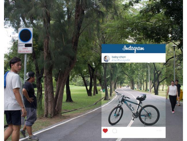 Spensierata gita in bici su Instagram