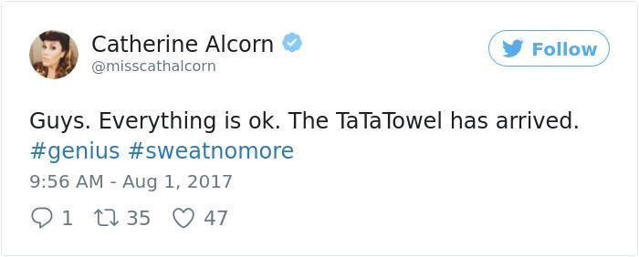 i commenti positivi al Ta-Ta Towel