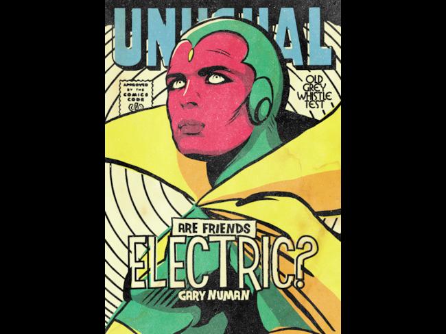 Gary Numan come se fosse un supereroe Marvel