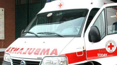 Un'ambulanza in azione