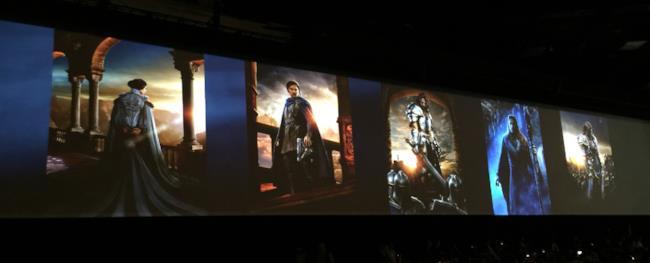 I character poster del film Warcraft al San Diego Comic-Con
