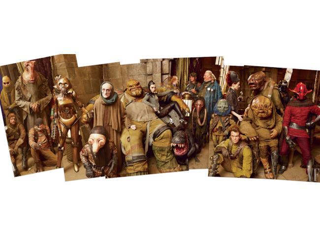 Alcuni viaggiatori galattici sul set di Star Wars 7