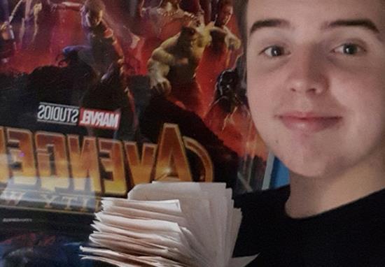 Kieran ha visto Avengers: Infinity War cento volte