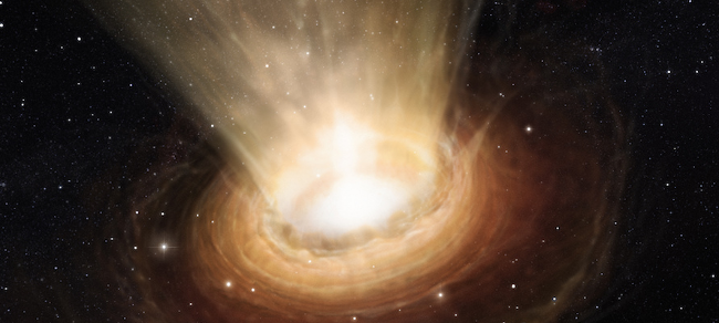 Un buco nero nell'immaginario di un artista