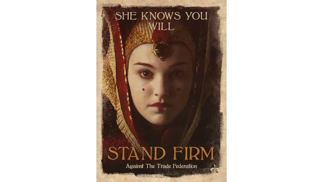 Poster della regina Amidala