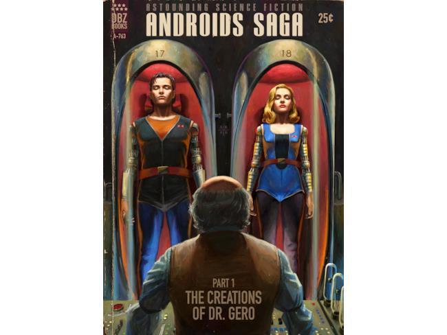 Saga degli Androidi, la prima copertina pulp col Dr. Gero