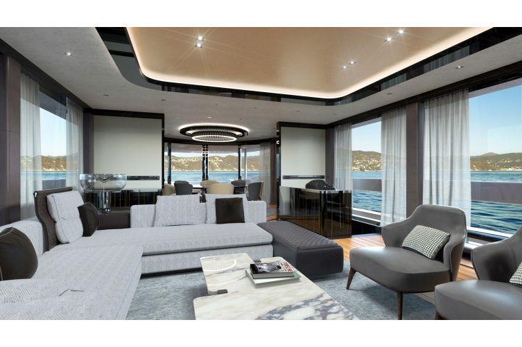 Una delle cabine del nuovo superyacht Porsche
