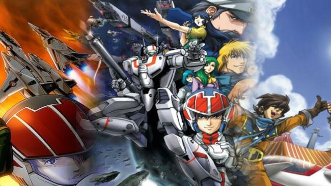La copertina della serie originale di Robotech