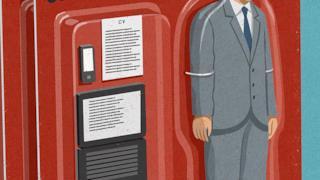Illustrazione satirica di John Holcroft sui lavoratori in outsourcing