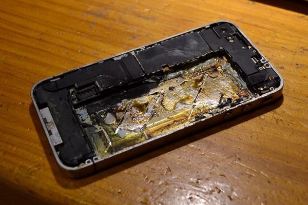 Cellulare distrutto