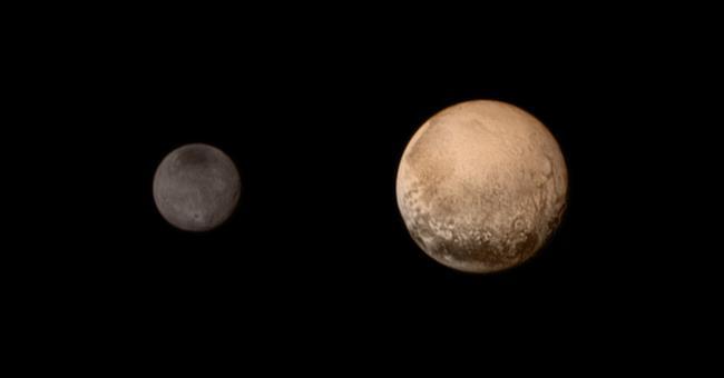 La luna Caronte e Plutone
