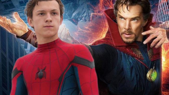 Tom Holland e Benedict Cumberbatch in posa nelle locandine dei loro rispettivi film.