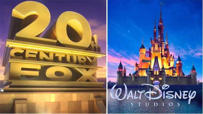 Il logo di Disney e quello di Fox