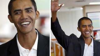 Immagine che ritrae il sosia indonesiano di Barak Obama