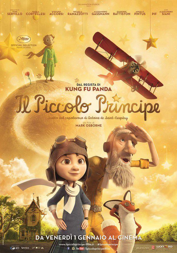 La locandina del film Il Piccolo Principe, nelle sale dal 1 gennaio 2016