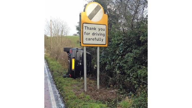 Grazie per guidare con attenzione