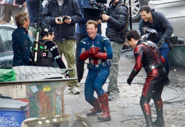 Captain America sul set di Avengers 4