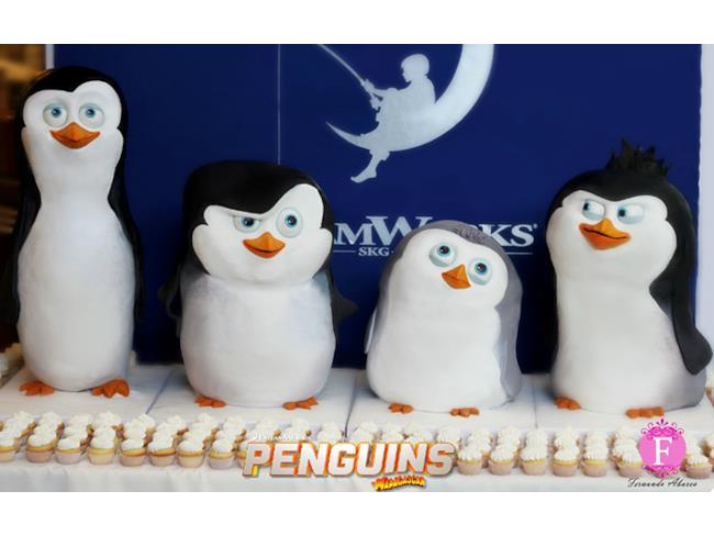 Torta con Pinguini di Madagascar