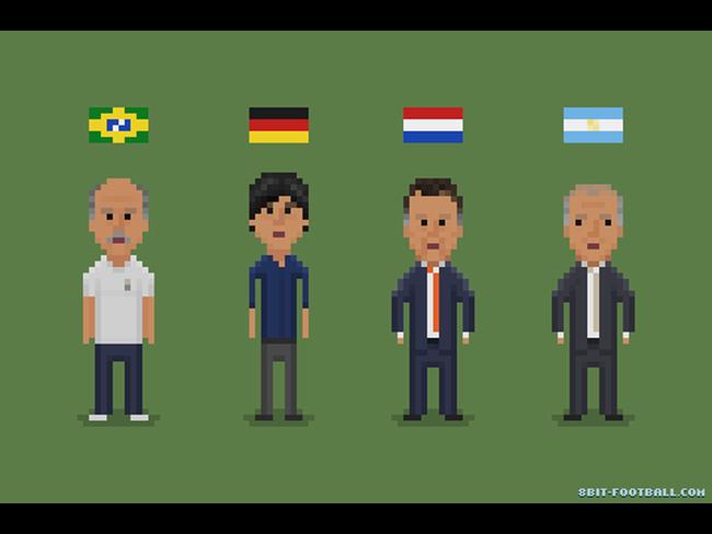 I 4 allenatori della semifinali dei Mondiali 2014 a 8-bit