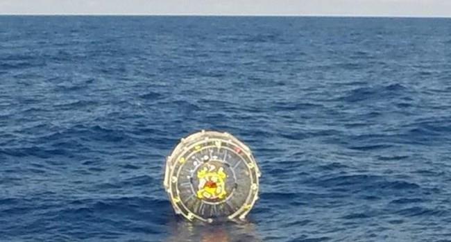 Palla gonfiabile in cui un uomo tentava di raggiungere le Bermuda