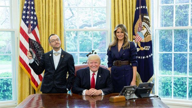 Trump, Melania e Nikos Giannopoulos