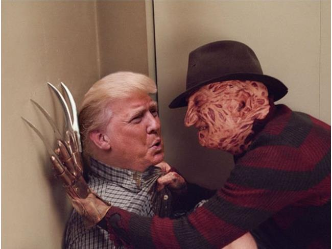 Trump e Freddy Krueger