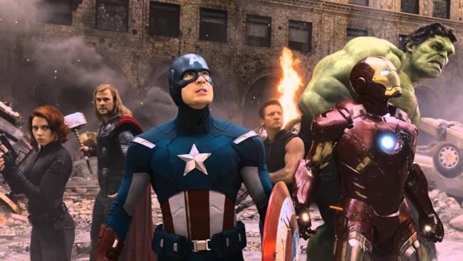 Gli Avengers in una scena dell'omonimo film.