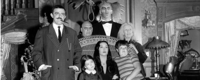 La Famiglia Addams in bianco e nero