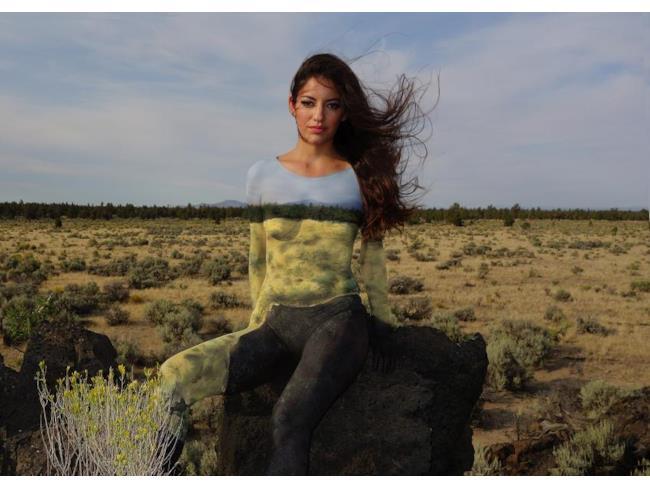 Natalie Fletcher paesaggi body painting