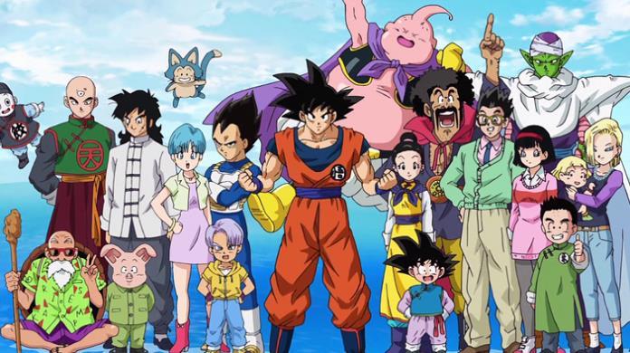 La foto di alcuni personaggi di Dragon Ball