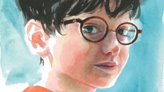 Disegno di Harry Potter da piccolo a colori