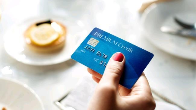 La foto di una carta di credito