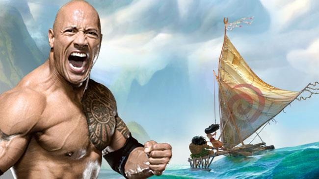 The Rock mette alla prova le corde vocali per Moana