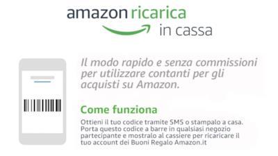 Le istruzioni di Amazon Ricarica in Cassa