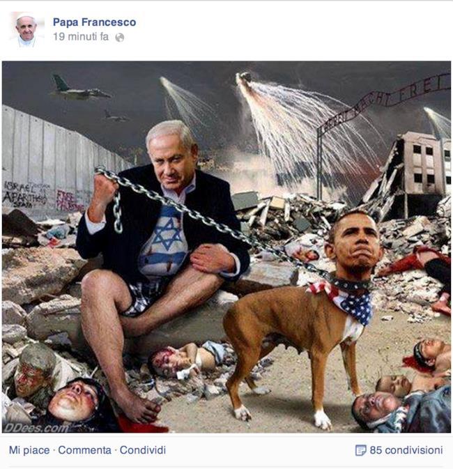 Post su Israele sulla pagina facebook di Papa Francesco